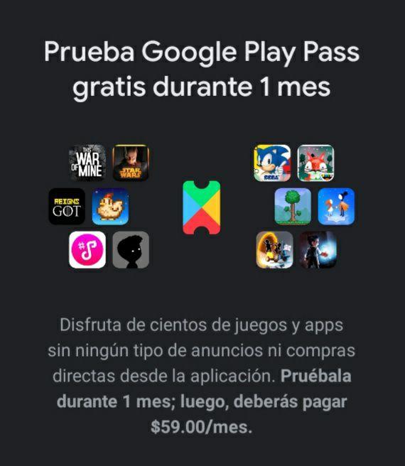 Google Play Pass - Obtén un mes gratis