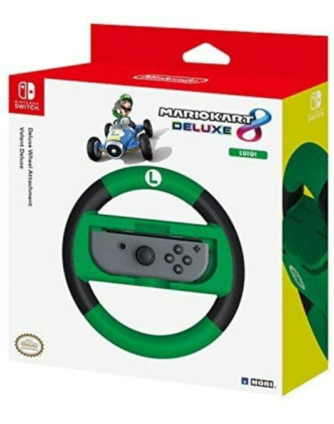 Amazon: Volante de Nintendo Mario kart 8 interruptor Deluxe Versión Luigi.