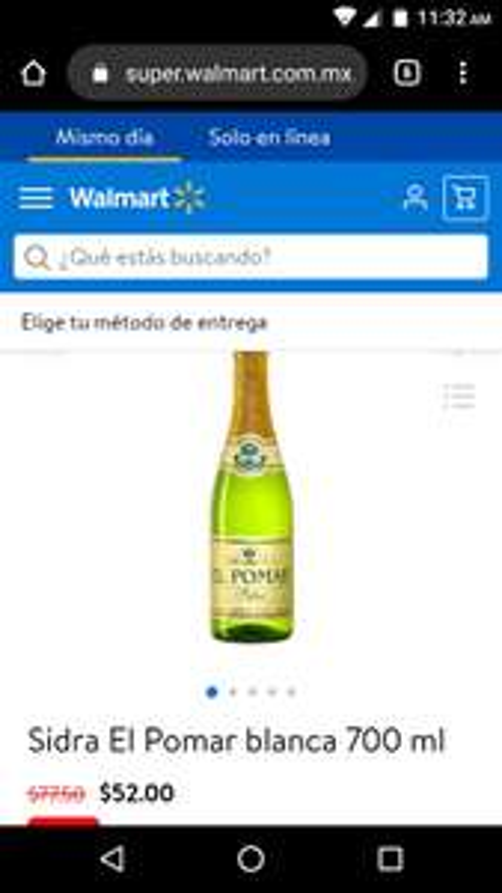 Walmart: Sidra El Pomar blanca 700ml online.