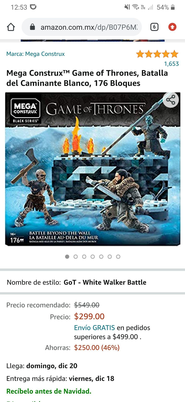 Amazon: Mega construx, Game of thrones, batalla de caminante blanco