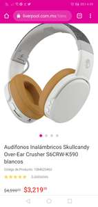 Liverpool: Audifonos Skullcandy Over-Ear Crusher S6CRW-K590