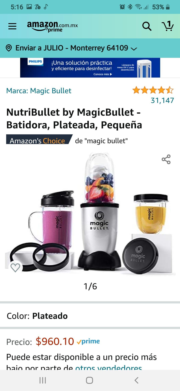 Amazon: NutriBullet by MagicBullet - Batidora Envio internacional GRATIS