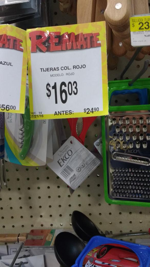 Bodega Aurrerá: accesorios cocina (ej. Tijera Ekco a $16.03)