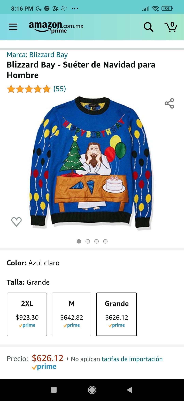 Amazon: Sweter del Cumple de Chuy, para gente cool y original. Talla grande