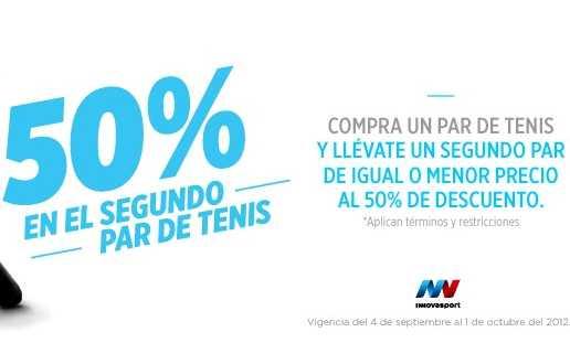 Innova Sport: segundo par de tennis a mitad de precio