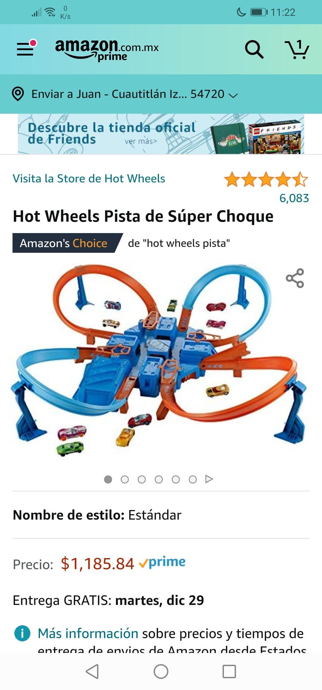 Amazon: Hot Wheels Pista de Súper Choque