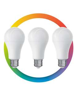 Steren: 3 focos LED Wi-Fi multicolor, de 10 W