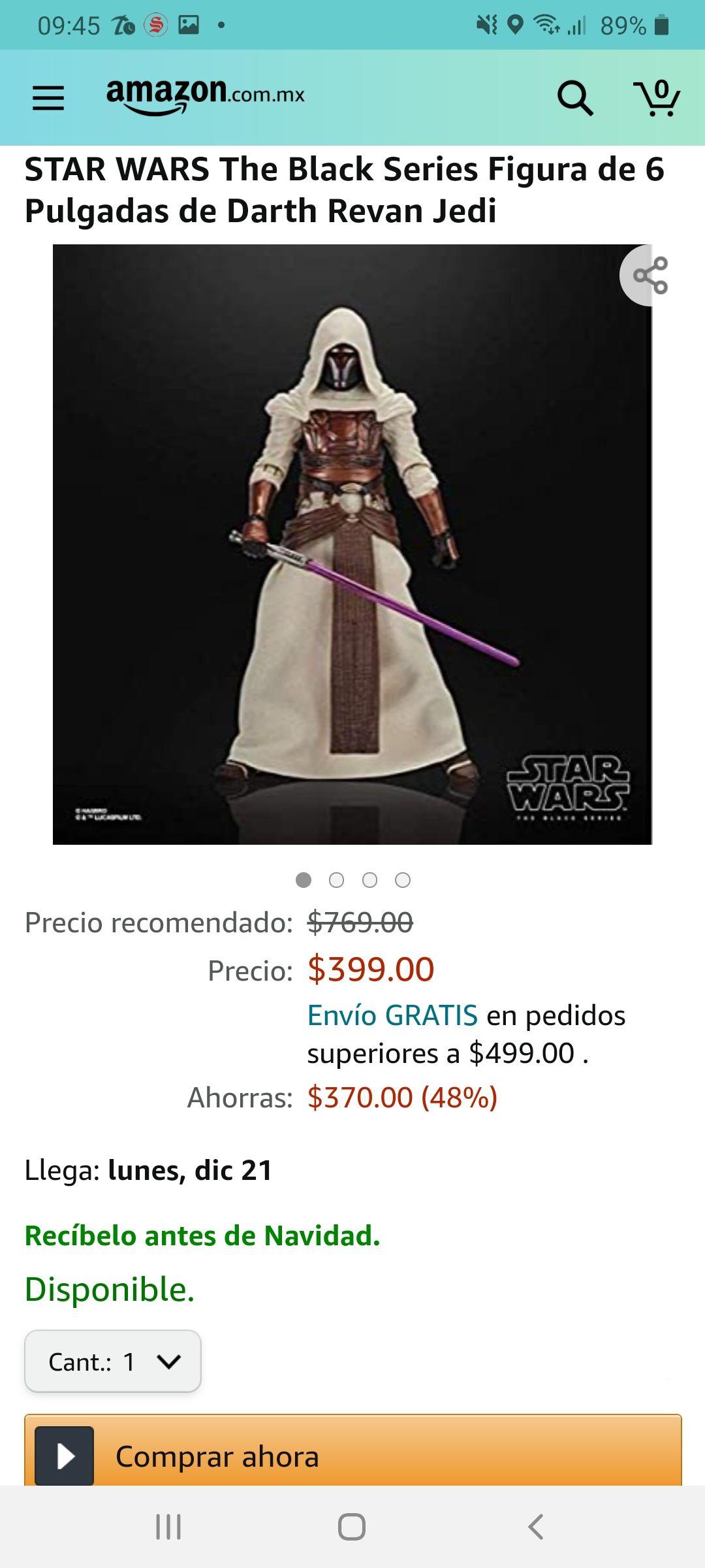 Amazon: Black series Caballero Jedi Revan de Star Wars