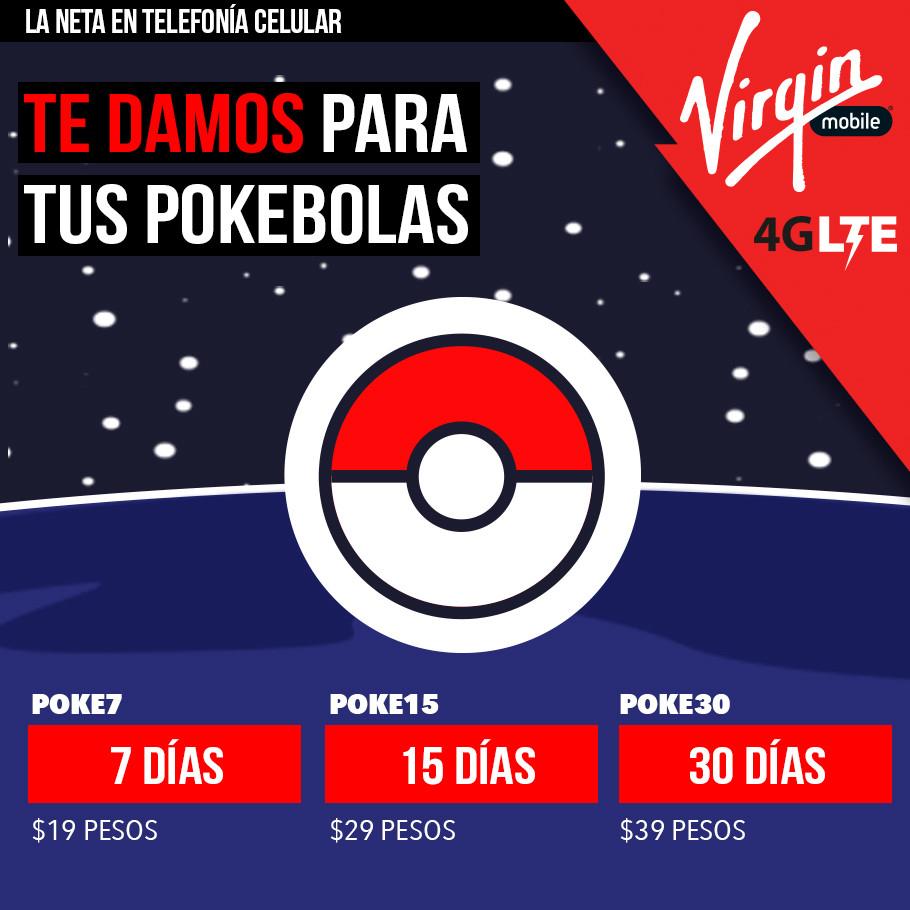 Paquetes Virgin mobile Pokemon Go
