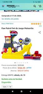 Amazon: Paw Patrol Set de Juego Meteorito Die Cast