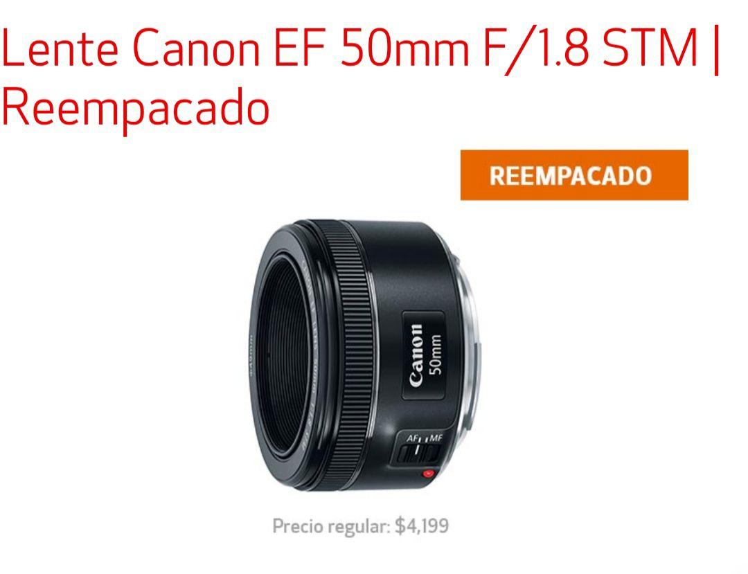 Canon: Lente Canon EF 50mm F/1.8 STM | Reempacado