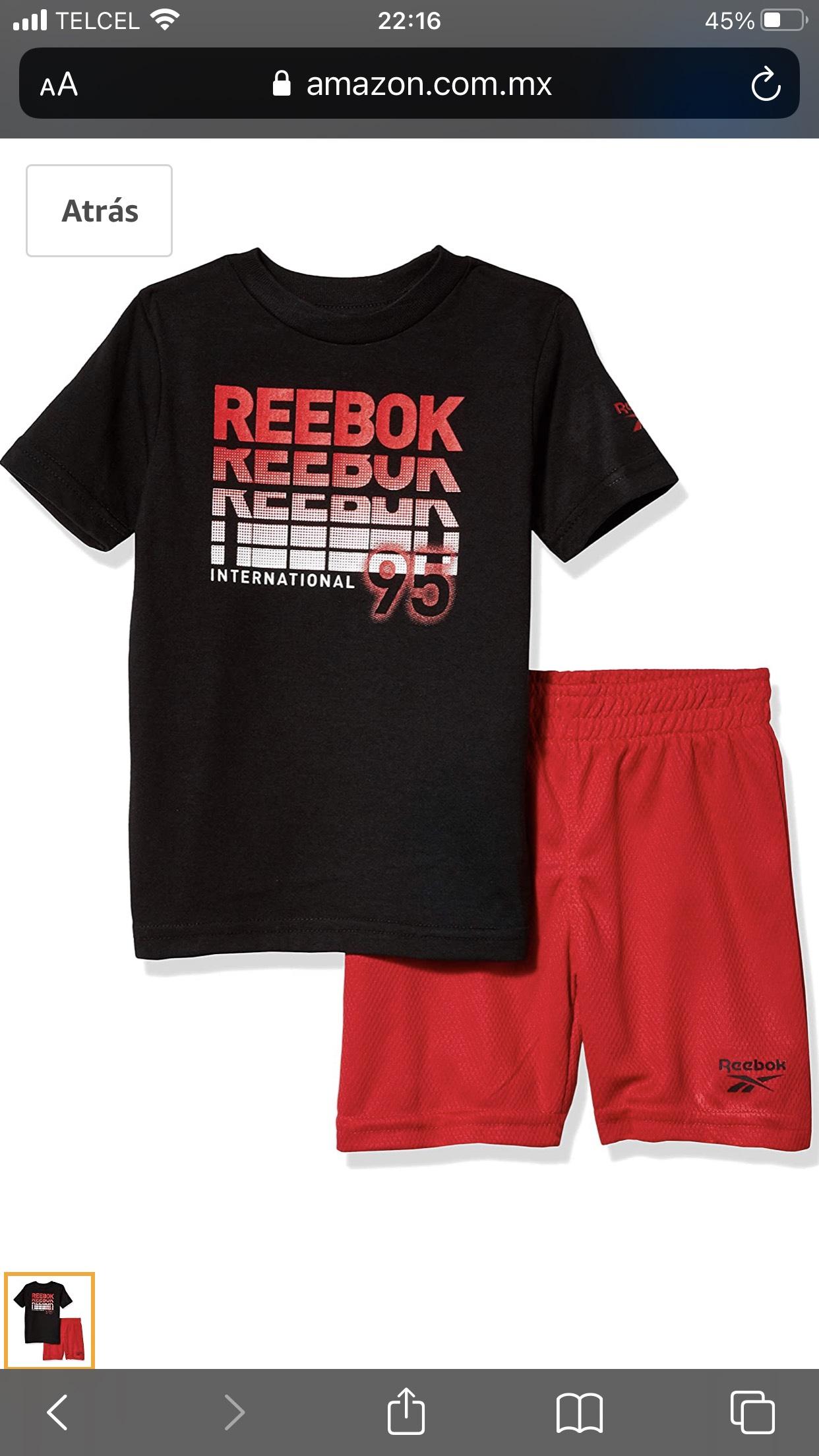 Amazon MX: Reebok - Juego de Pantalones Cortos para bebé