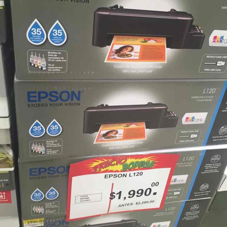 Bodega Aurrerá: Impresora Epson L120 a $1,990