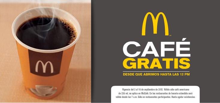 Café gratis en McDonald's (pospuesto)