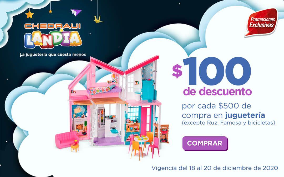 Chedraui: $100 de descuento/bonificación por cada $500 de compra en juguetería