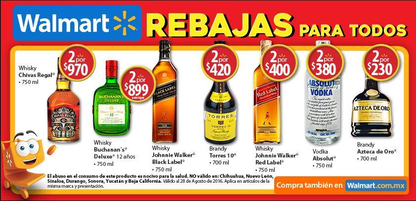 Walmart: Promociones en botellas