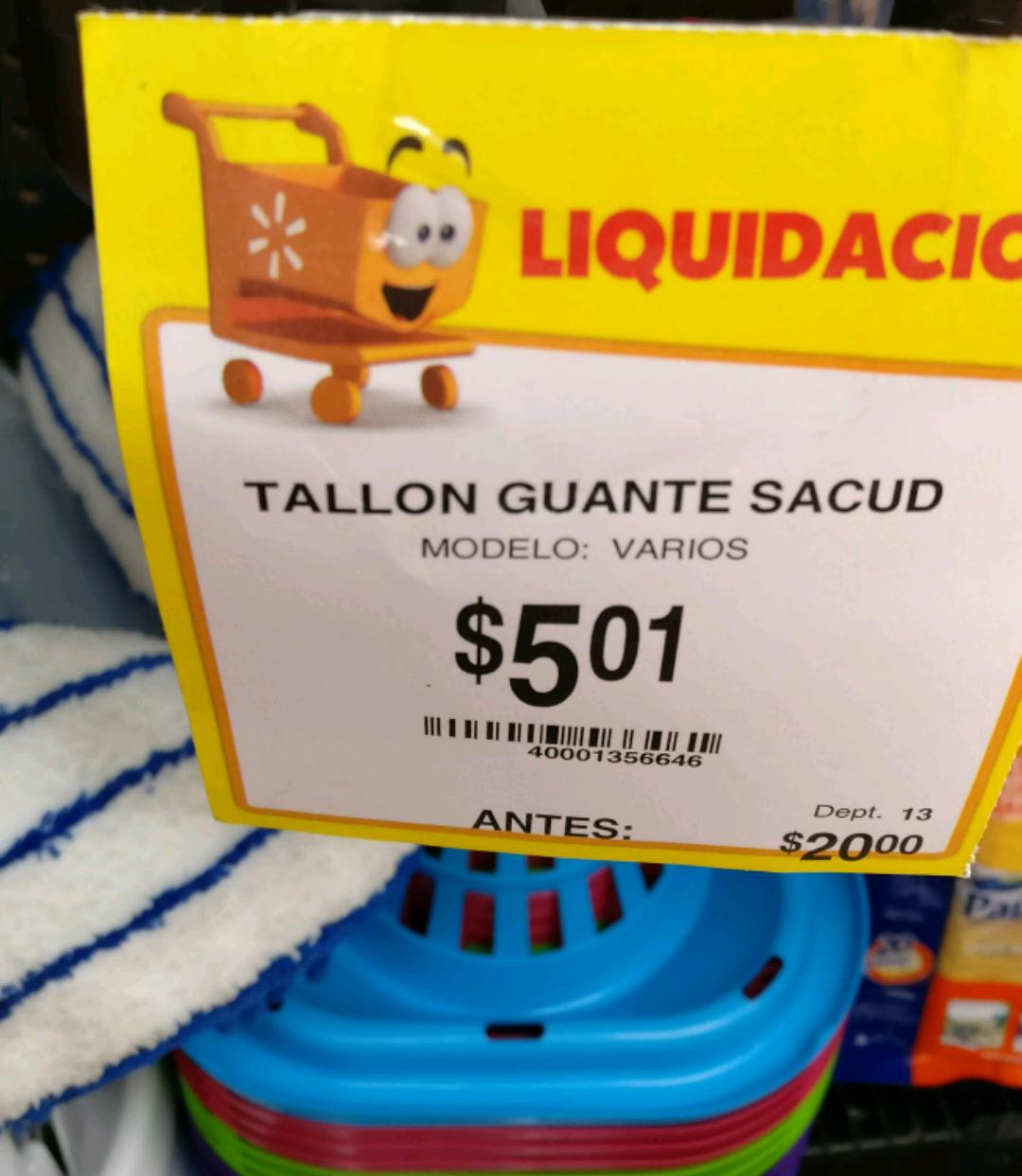 Walmart adelitas: Toalla guante barato!!!!!! 5 pesos