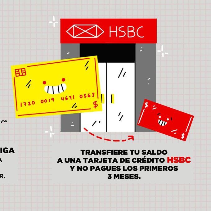 HSBC: Transfiere tu deuda y no pagues NADA los primeros tres meses.