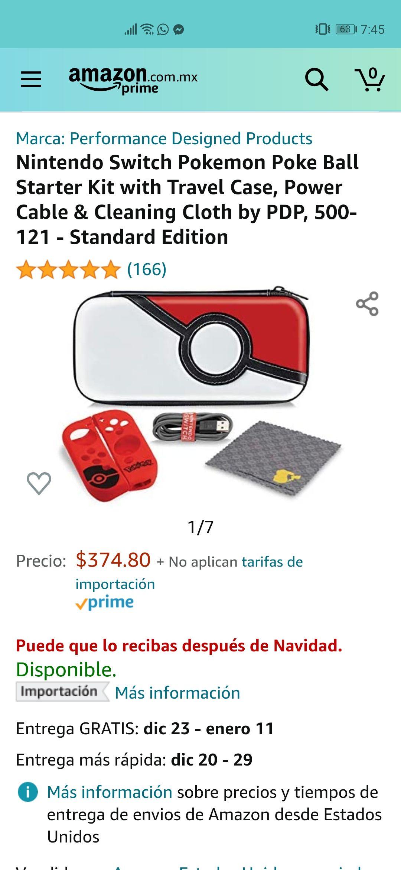 Amazon Kit protector funda Nintendo Switch