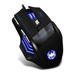 Amazon Mouse gamer iluminado multicolor (7 botones)