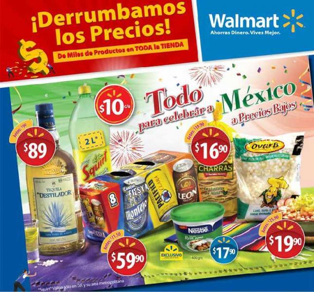 Folleto Walmart: descuentos en cervezas, vinos, refrescos y más