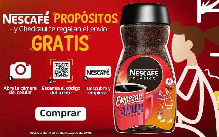 Chedraui: Envío gratis en la compra de 1 frasco de Nescafé Clásico 225 g.