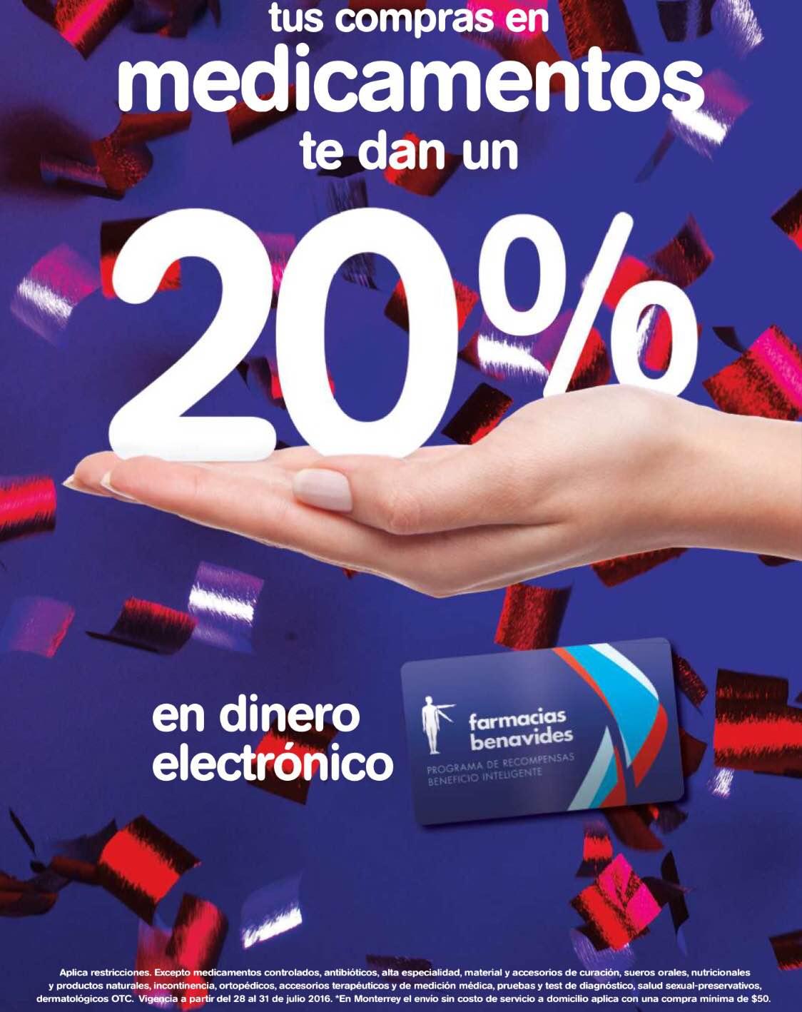 Farmacias Benavides: 20% de bonificación en medicamentos