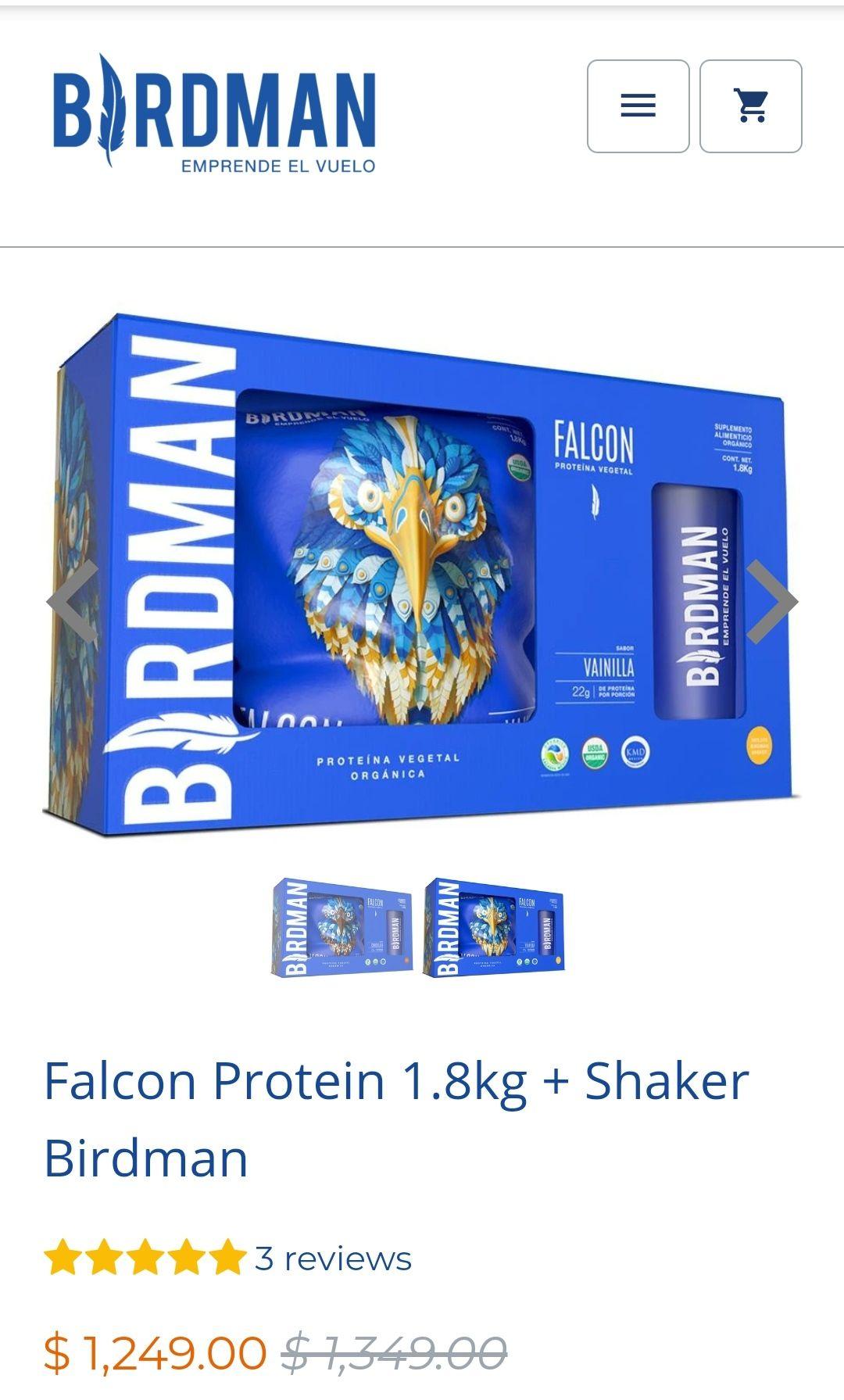 BIRDMAN: Falcon Protein 1.8kg + Shaker Birdman