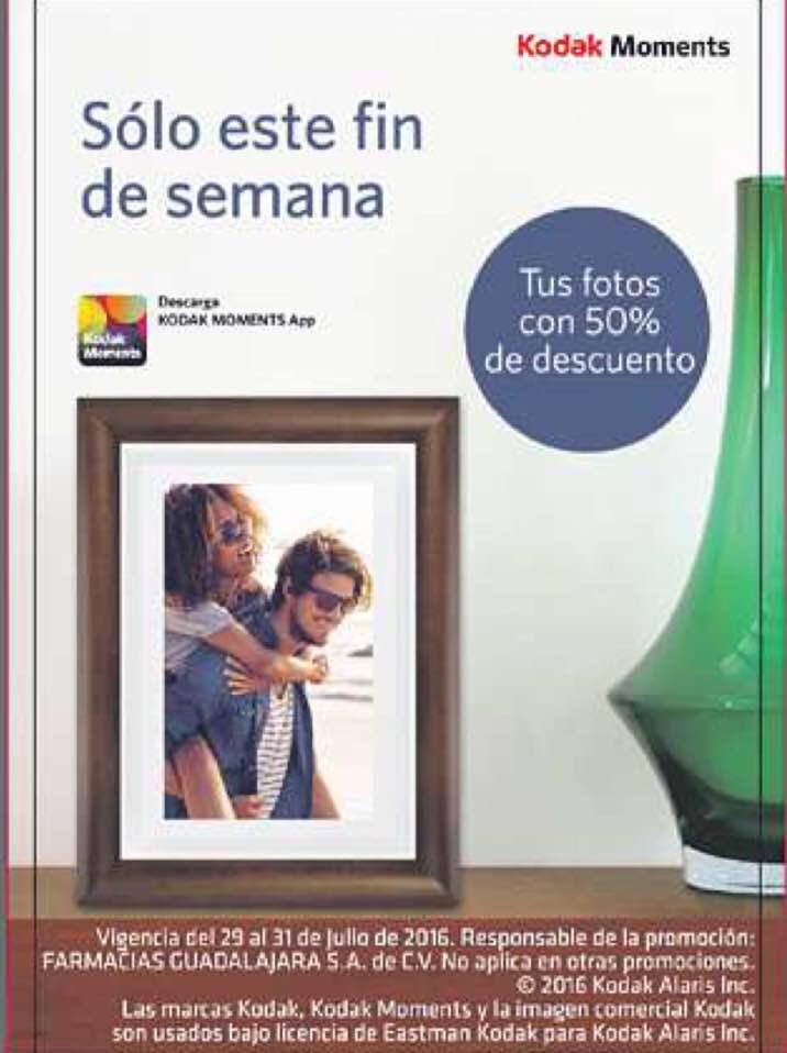 Farmacias Guadalajara: 50% de descuento en fotos