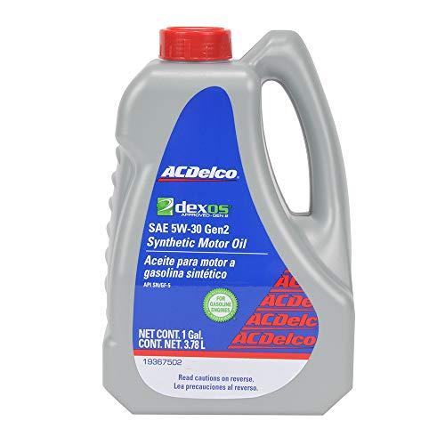 Amazon: ACDelco Aceite Sintético, para Motores a Gasolina 100% New Dexos Gen 2 5W30 3.78 L, 19367502