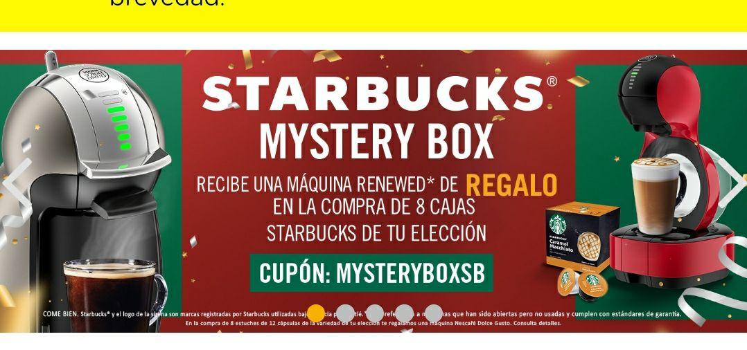 Dolce-Gusto, Máquina renewed en la compra de 8 cajas de cápsulas Starbucks