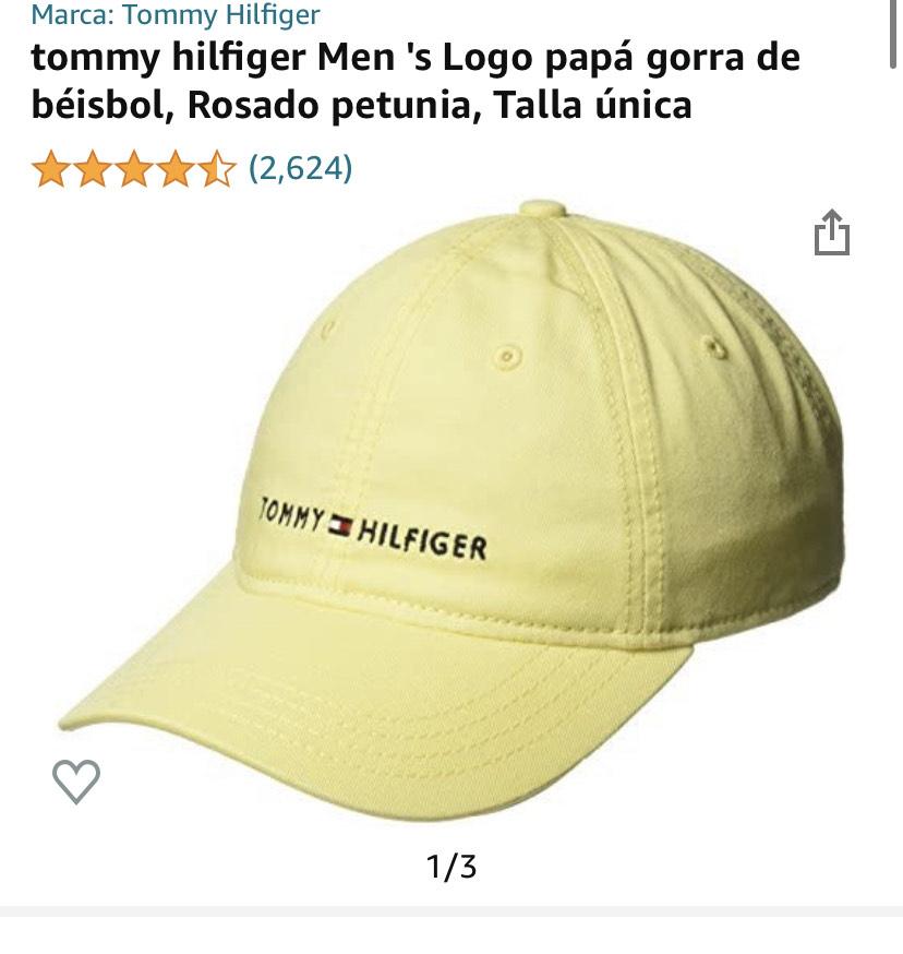 Amazon: gorra amarilla Tommy hilfiger