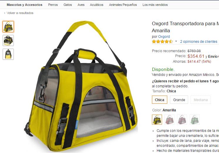 Amazon: Transportadora Oxgord para Mascotas desde $354 - $425