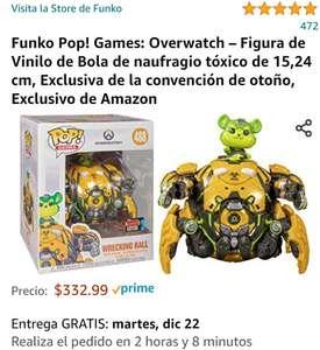 Amazon: Funko pop de Wrecking Ball (Overwatch)