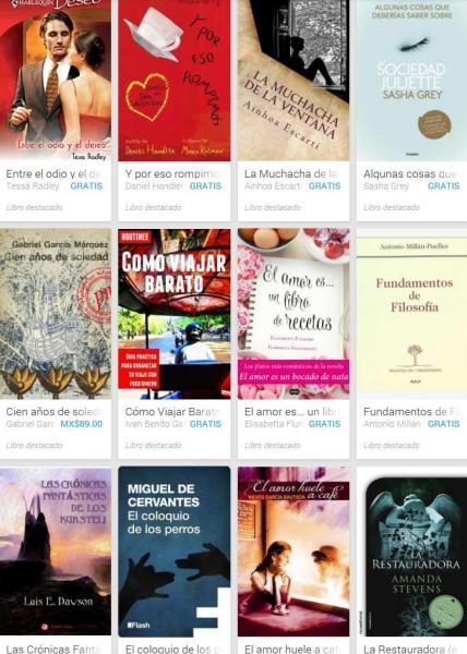 Google Play: varios libros gratis