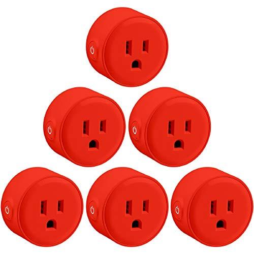 Amazon: 6 pack LITEdge Smart Plug (Rojo) Compatible con Alexa y Google Home