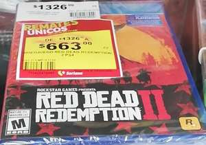 Soriana Hiper Pachuca: RED DEAD REDEMPTION 2 PS4
