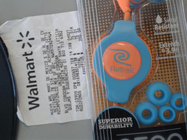 Walmart Córdoba: auriculares neón sport Retrak a $75.01