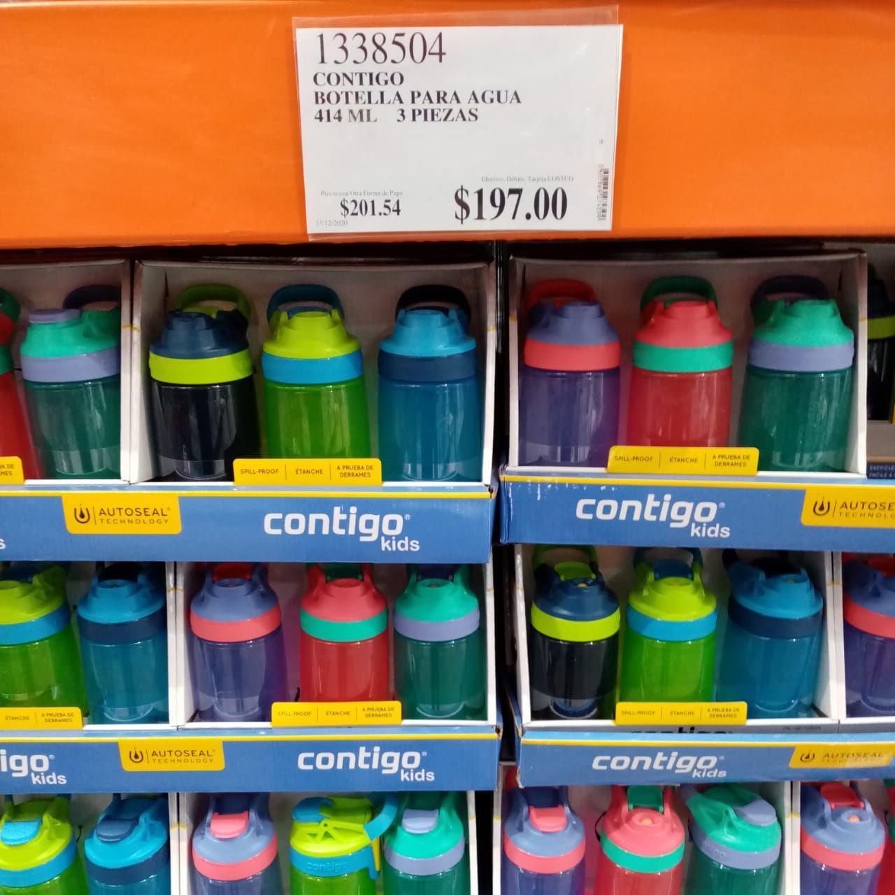 Costco Guadalajara: Contigo, Set de 3 piezas de vasos antiderrames para niño