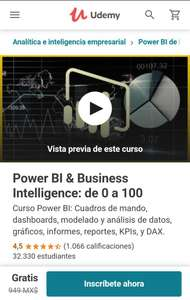 Udemy: Power BI & Business Intelligence: de 0 a 100