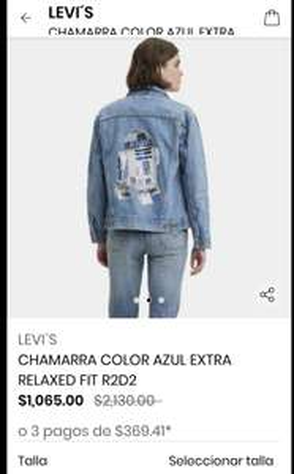 Privalia Levi's chamarra R2-D2