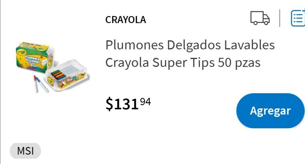 Sam's Club : CRAYOLA plumones delgados 50 piezas