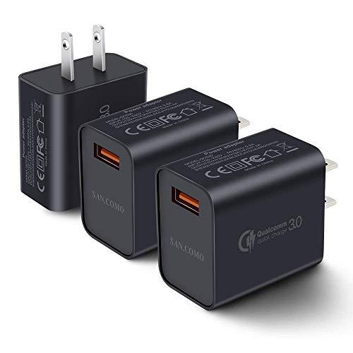 Amazon: Cargador de carga rapida Quick charge 3.0 Paquete de 3