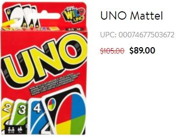 Super Walmart: UNO Mattel