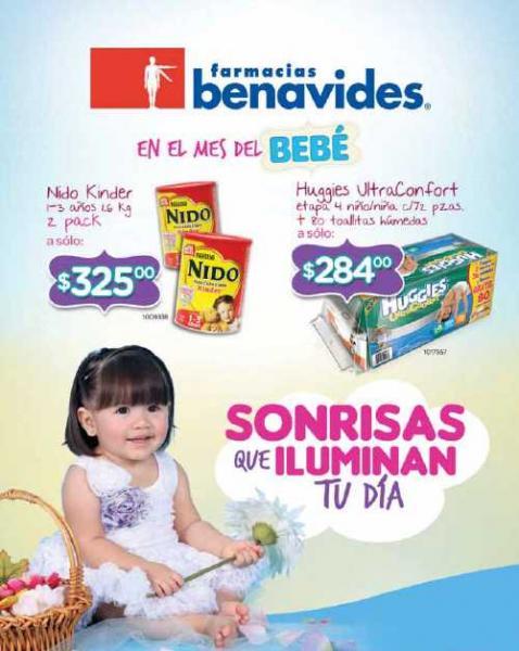 Folleto Farmacias Benavides: 3x2 en jugos Gerber, biberones Curity, desodorantes Rexona, Axe y más