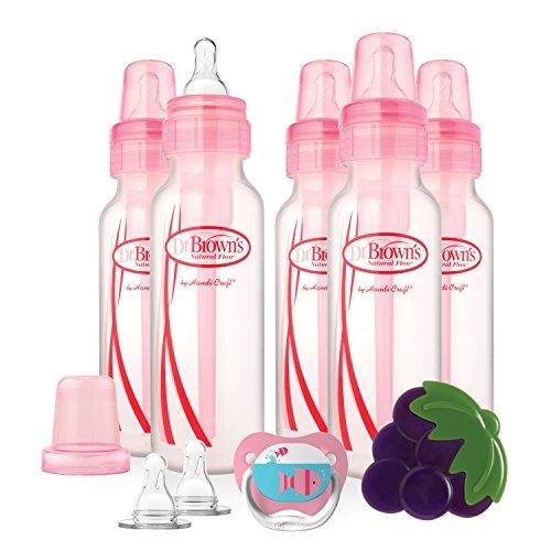 AMAZON - Dr. Brown's Bottles Gift Set - 5 biberones 8 oz, 2 tetinas, 1 chupete y 1 mordedera