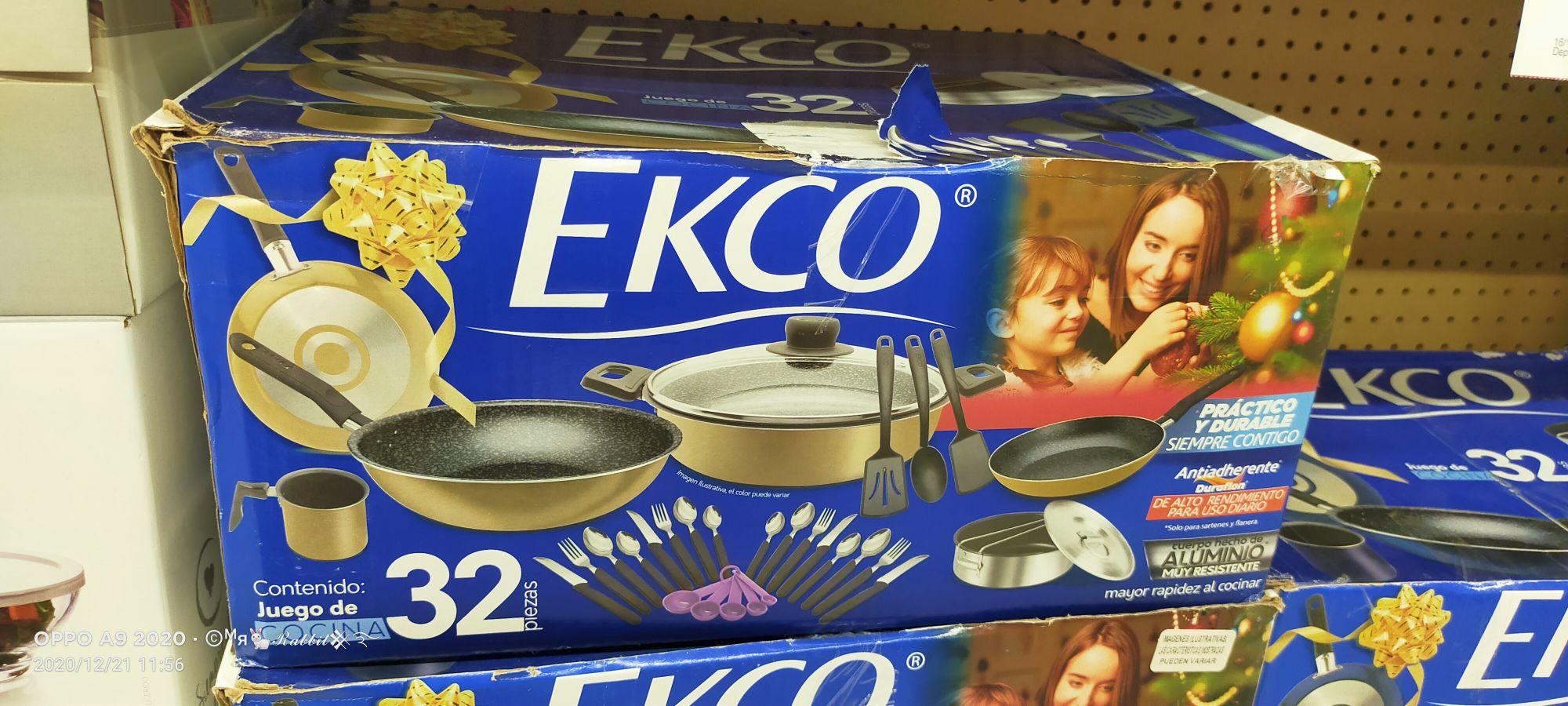 Bodega Aurrera: Batería de cocina Ekco 32 piezas