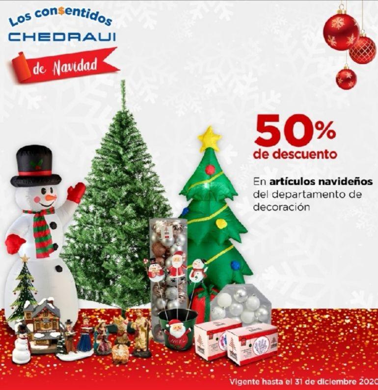 Chedraui: 50% de descuento en artículos navideños del departamento de decoración