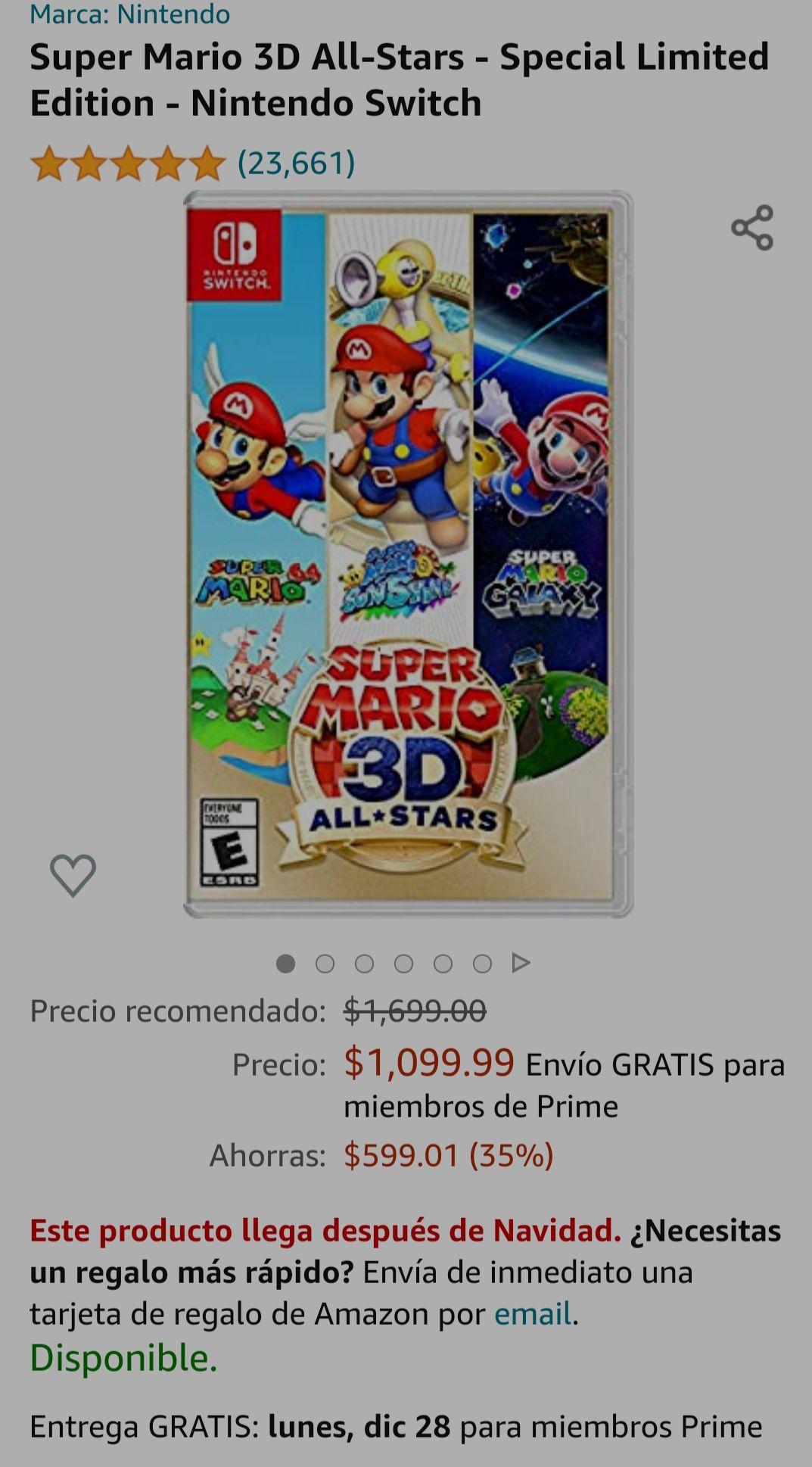 Amazon : Super Mario 3D All-Stars - Nintendo Switch