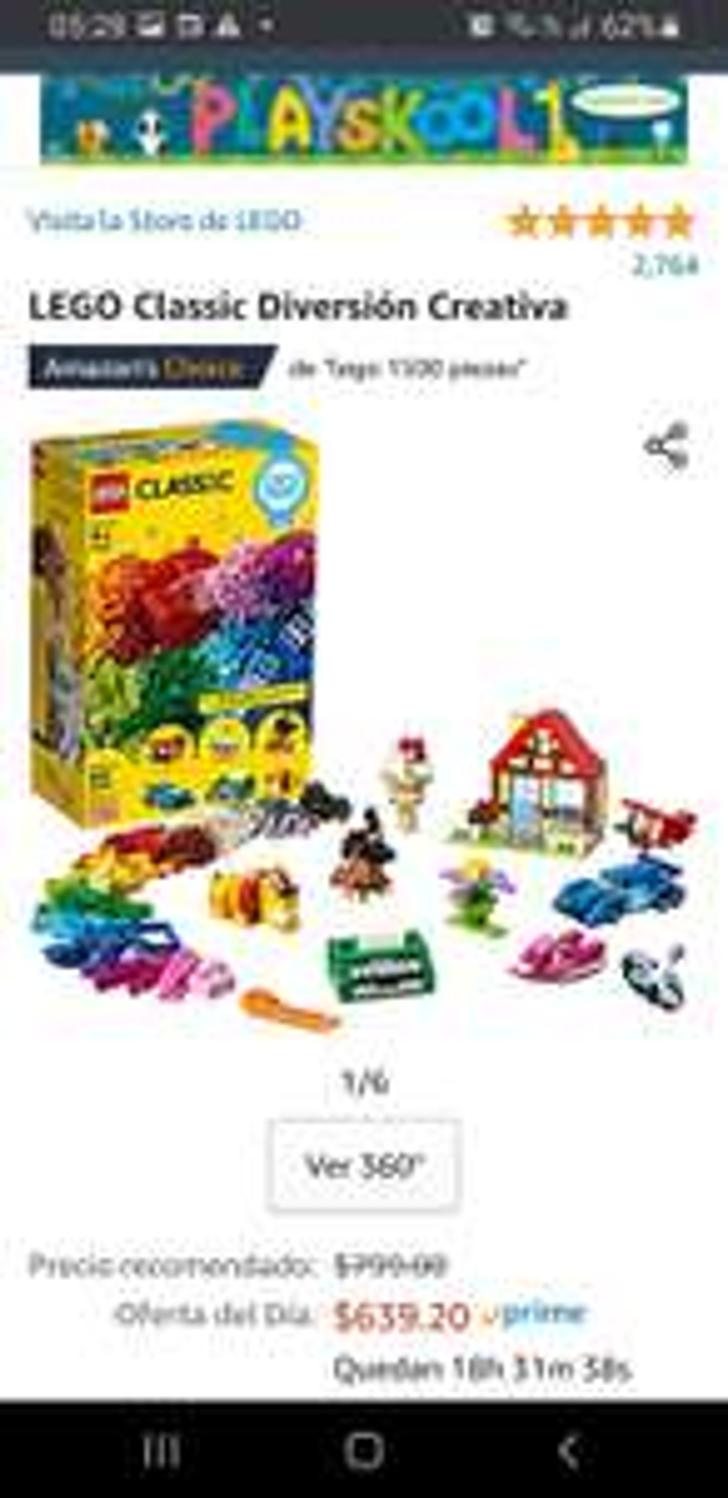 "Amazon LEGO Classic ""Diversión Creativa"""
